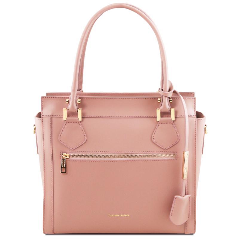 614046c0da ... Γυναικεία τσάντα δερμάτινη TL141644 - Ballet ροζ ...