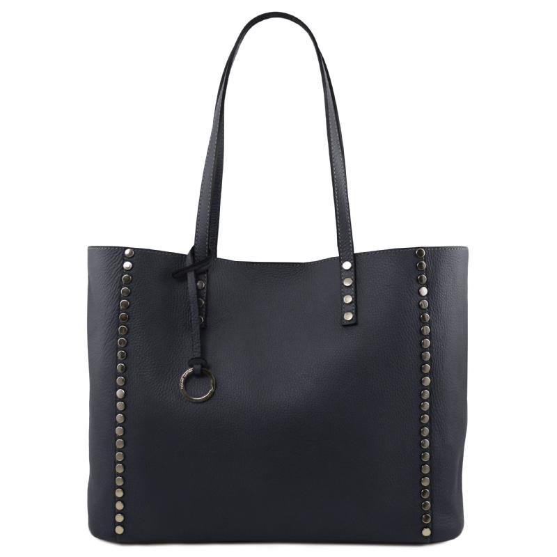 7764c9a449 ... Γυναικεία τσάντα ώμου δερμάτινη TL141735 - Μπλε σκούρο - Άνοιγμα ...