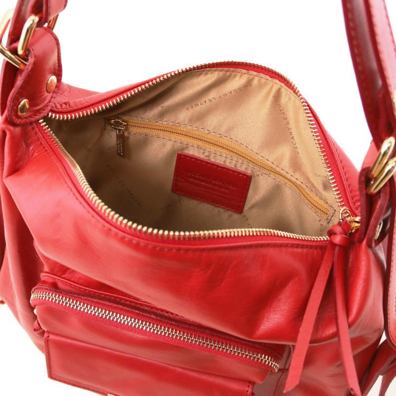 a711c79494 ... Γυναικεία τσάντα ώμου   πλάτης δερμάτινη TL141535 - Κόκκινο lipstick -  Εσωτερικό ...