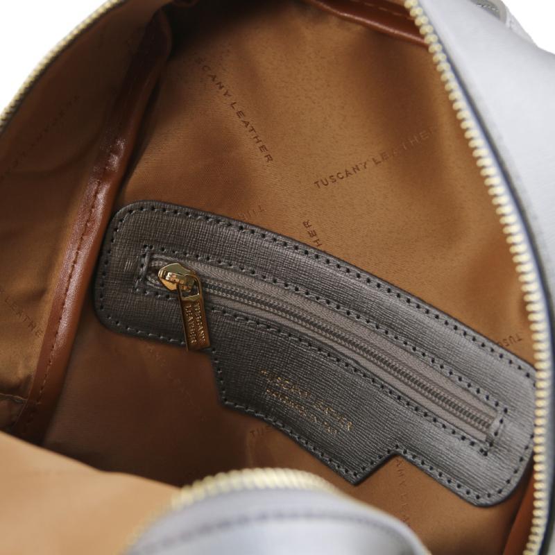... Γυναικεία τσάντα πλάτης δερμάτινη TL141701 - Γκρι - Εσωτερικό ... c02c1ad9102