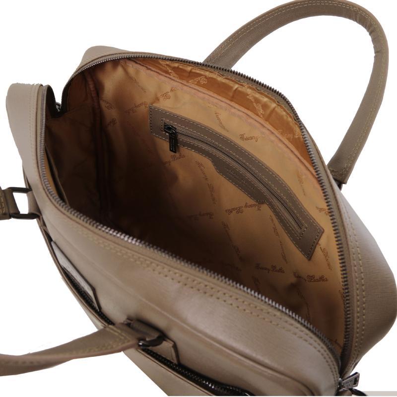 3f256a8854f ... Τσάντα laptop δερμάτινη TL141627 - Σταχτί σκούρο - Εσωτερικό ...