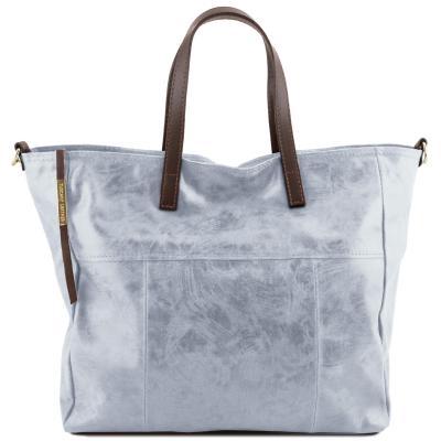Γυναικεία τσάντα δερμάτινη TL141552 - Μπλε ανοιχτό 7615d139a2b