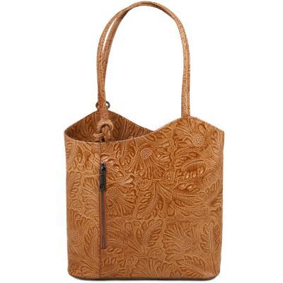 Γυναικεία τσάντα ώμου   πλάτης δερμάτινη TL141676 - Κονιάκ e031898c543